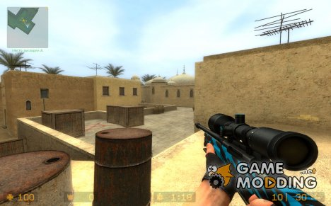BLUE THUNDER (AWP)v2 для Counter-Strike Source