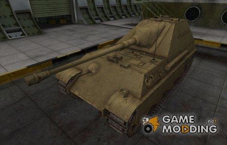 Пустынный скин для танка Jagdpanther II for World of Tanks