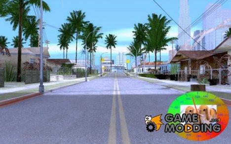 Новогодний спидометр версии 1.1 для GTA San Andreas