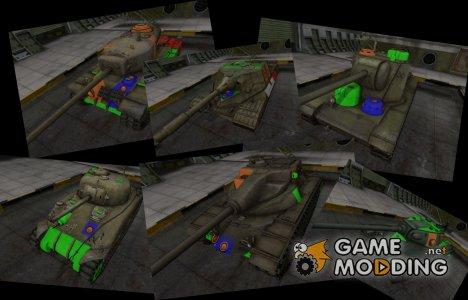 Пак качетсвенных скинов с зонами пробития для World of Tanks