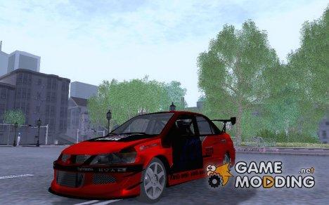 FNF 3 Mitsubishi Evo для GTA San Andreas