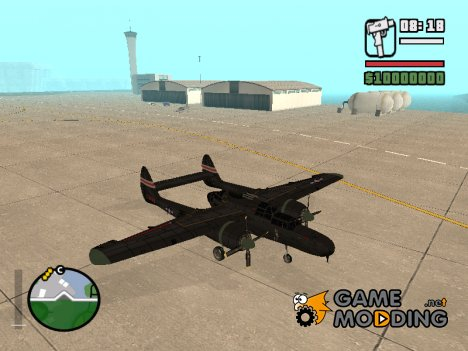 Northrop P-61 Black Widow для GTA San Andreas
