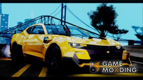 Chevrolet Camaro SS 2016 Bumblebee Transformers 5 v1.1 для GTA San Andreas