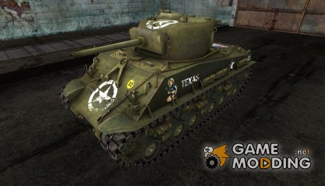 M4A3 Sherman 8 USA flag for World of Tanks