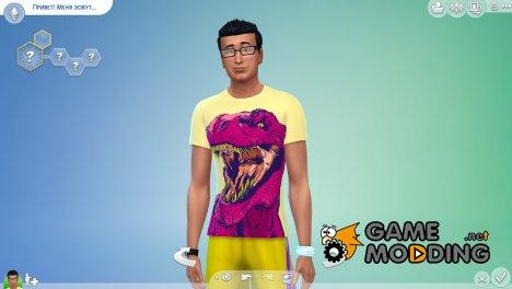 Мужские футболки Neon for Sims 4