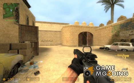Imitates COD4 M16A4 for Counter-Strike Source