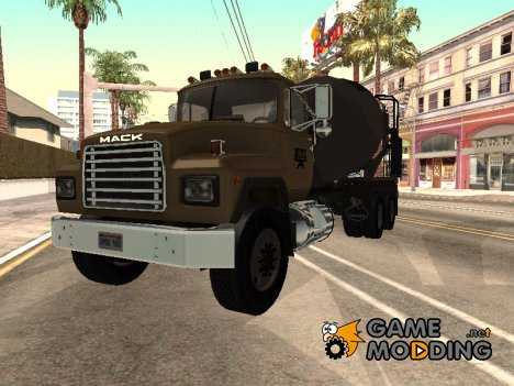 1992 Mack RD690 Cement Mixer Truck для GTA San Andreas