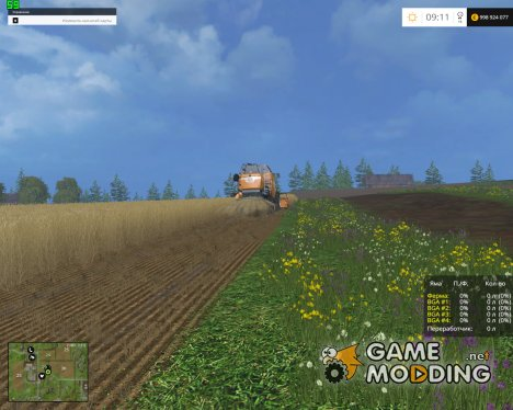Silage Bunker HUD for Farming Simulator 2015