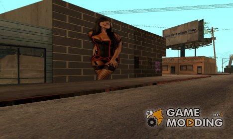 Рисунок с девушкой для GTA San Andreas