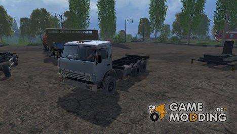 КамАЗ 55102 + Модульные прицепы для Farming Simulator 2015