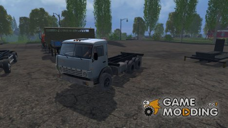КамАЗ 55102 + Модульные прицепы for Farming Simulator 2015