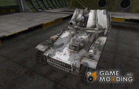Камуфлированный скин для Wespe for World of Tanks