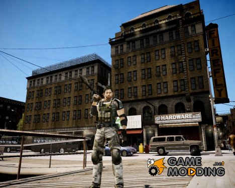 Chris from Resident Evil 5 для GTA 4
