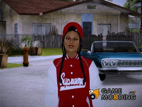 Supreme Shirt Girl для GTA San Andreas