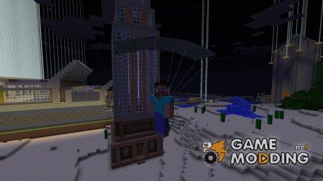 Parachute mod для Minecraft