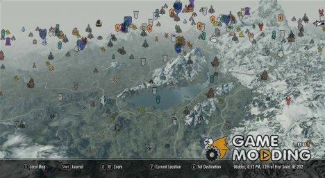 Цветные иконки для карты для TES V Skyrim