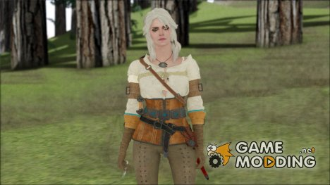 Ciri from Witcher 3 Retextured for GTA San Andreas
