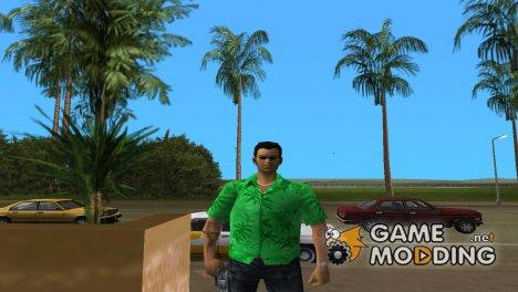 Томми в зелёной одежде for GTA Vice City