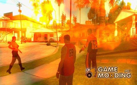 CLEO мод: Оживление Пешеходов v1.0 для GTA San Andreas