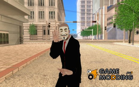 Anonymous skin V.3 for GTA San Andreas