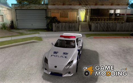 Lexus LF-A China Police for GTA San Andreas