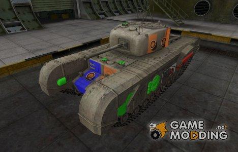 Качественный скин для Churchill VII для World of Tanks