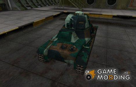 Французкий синеватый скин для Hotchkiss H35 для World of Tanks