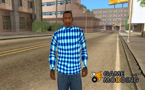 Сине-бело-голубая рубашка for GTA San Andreas
