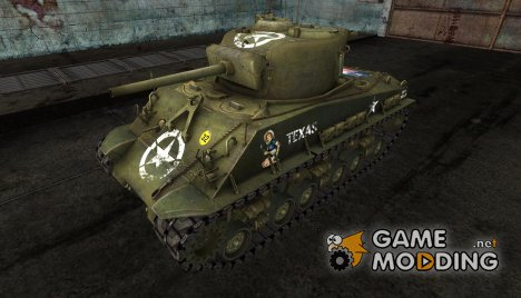M4A3 Sherman 8 texas flag for World of Tanks