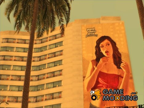 GTA IV Lollypop Girl billboard for GTA San Andreas