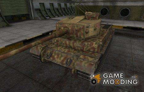 Исторический камуфляж PzKpfw VI Tiger (P) для World of Tanks