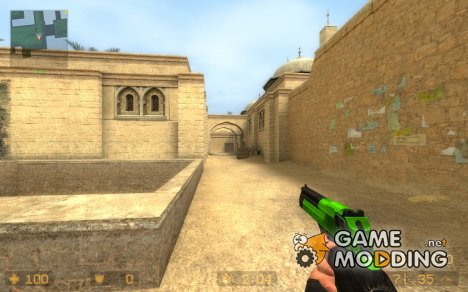 Green And Black Deagle (request) for Counter-Strike Source
