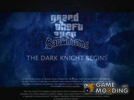 The Dark Knight loading screens для GTA San Andreas