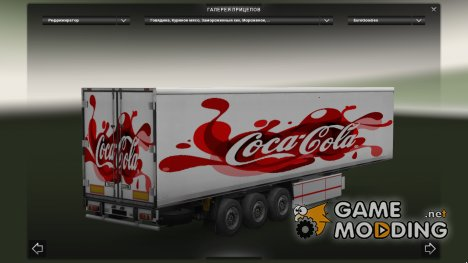 Coca-Cola and Fruits Trailers for Euro Truck Simulator 2