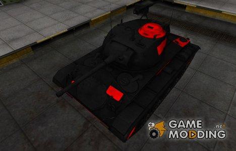 Черно-красные зоны пробития M24 Chaffee для World of Tanks