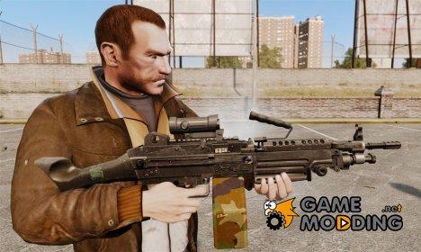 Ручной пулемёт FN M249 SAW для GTA 4