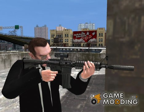 M4 (CAR-15) из GTA V для GTA 4