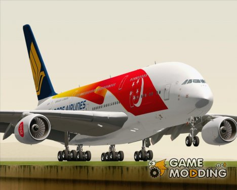 Airbus A380-800 Singapore Airlines Singapores 50th Birthday Livery (9V-SKI) for GTA San Andreas
