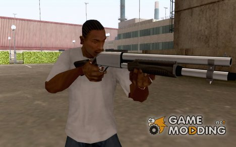 White Chrome Shotgun for GTA San Andreas