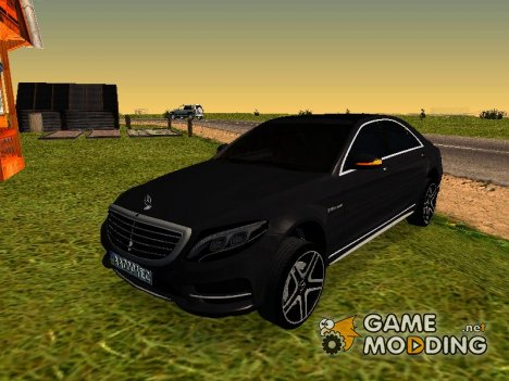 Mercedes-Benz Long S65 W222 Black loaf для GTA San Andreas
