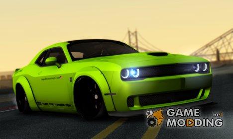 Dodge Challenger Hellcat Liberty Walk LB Performance for GTA San Andreas