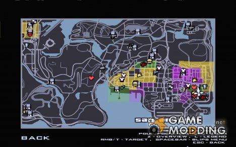 Maplist из GTA IV for GTA San Andreas