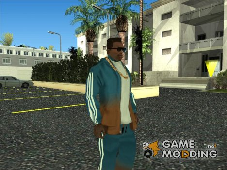Adidas Suit shirt Orange blue для GTA San Andreas