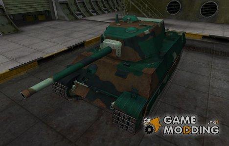 Французкий синеватый скин для AMX M4 mle. 45 для World of Tanks