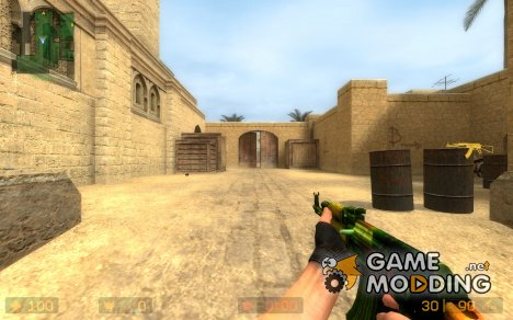 Rainbow AK47 for Counter-Strike Source