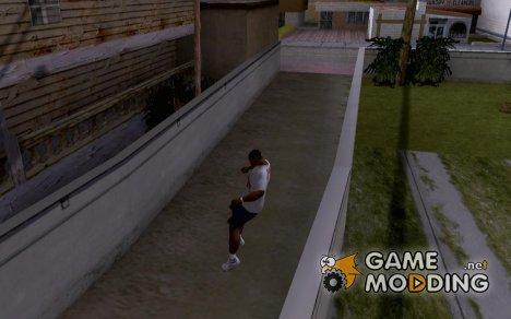 Прыгать сквозь стены и ограждения for GTA San Andreas