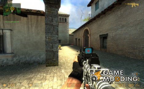 White Tiger Camo M4a1 for Counter-Strike Source