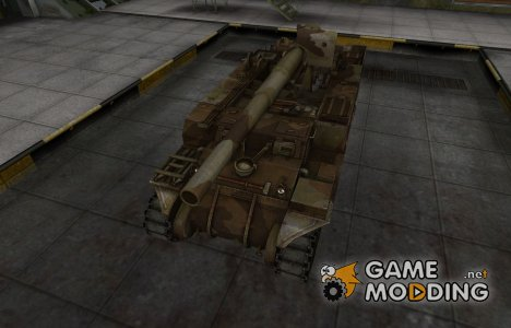 Шкурка для американского танка M12 for World of Tanks