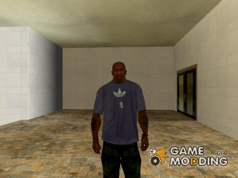 Adidas T-shirt gray for GTA San Andreas