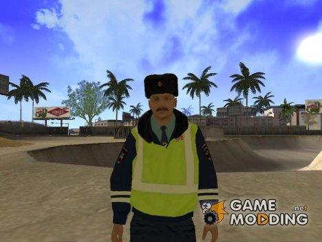 Сотрудник ДПС в зимней униформе v.3 для GTA San Andreas